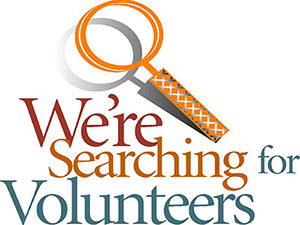 we're looking for volunteers