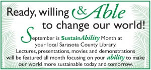 Sarasota County Library celebrates SustainAbility Month