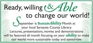 Sarasota County Library celebrates SustainAbility Month